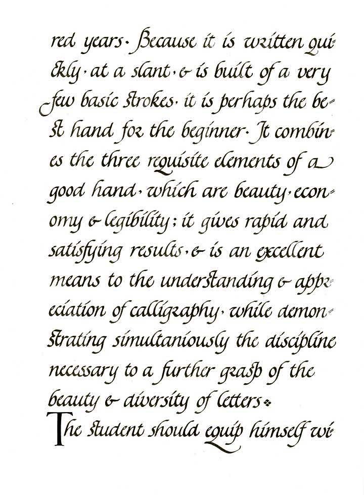 An Introduction To The Elements Of Calligraphy Page Five