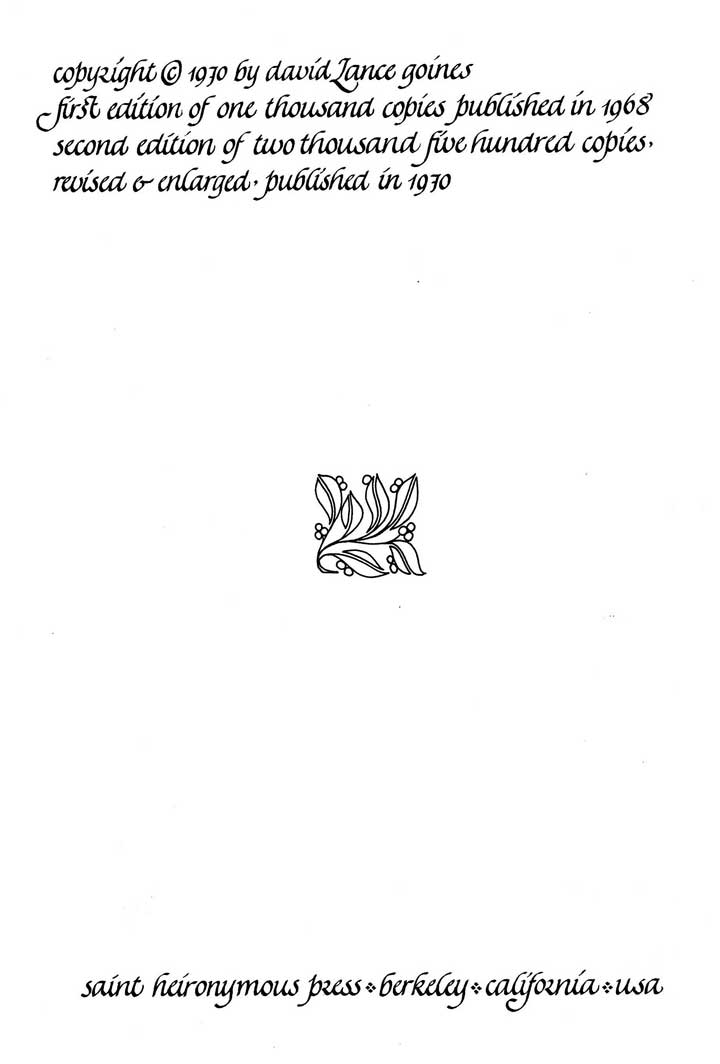 An Introduction To The Elements Of Calligraphy Copyright Page