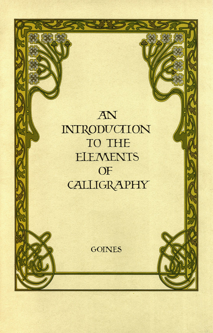 an introduction to the elements of calligraphy front cover